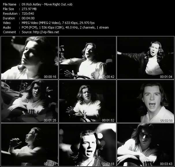 Screenshot of Music Video Rick Astley - Move Right Out