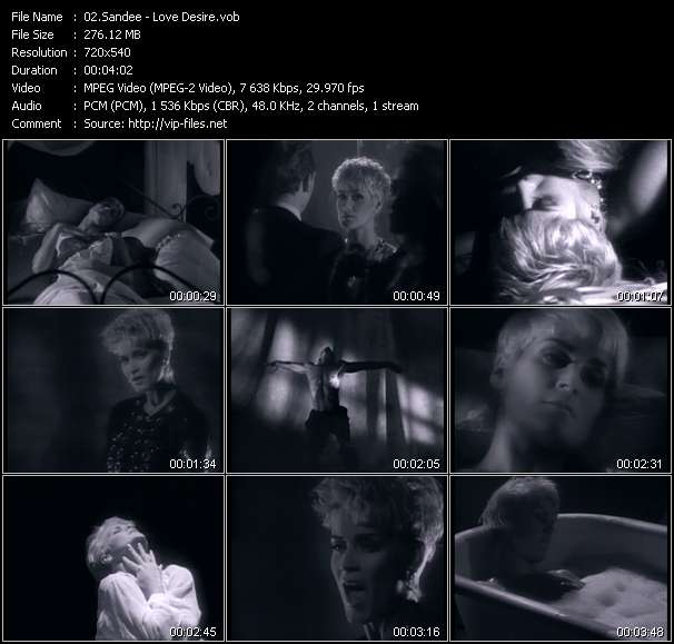 Screenshot of Music Video Sandee - Love Desire