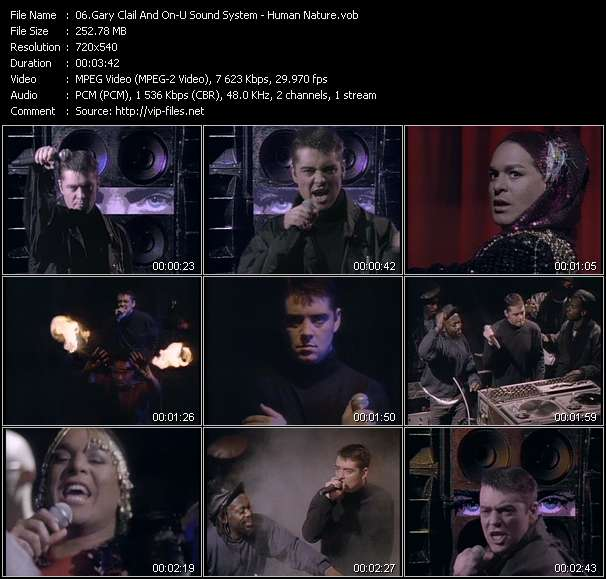 Screenshot of Music Video Gary Clail And On-U Sound System - Human Nature