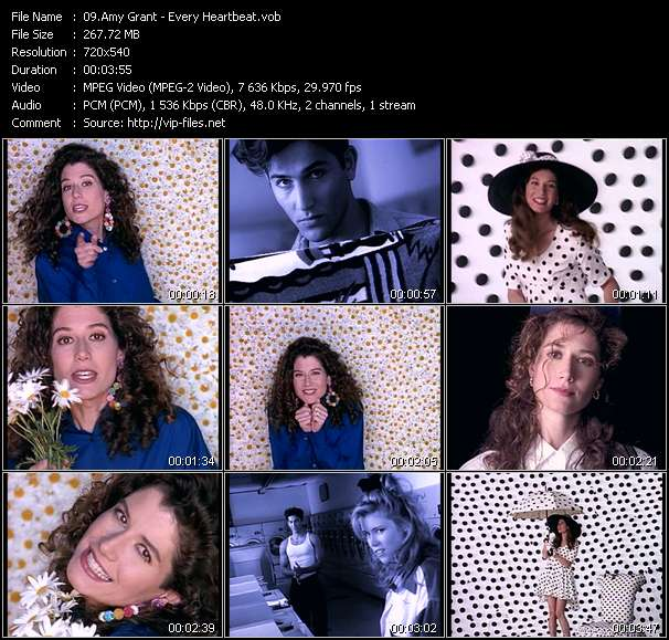 Screenshot of Music Video Amy Grant - Every Heartbeat