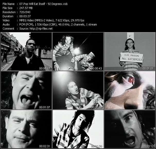 Screenshot of Music Video Pop Will Eat Itself - 92 Degrees