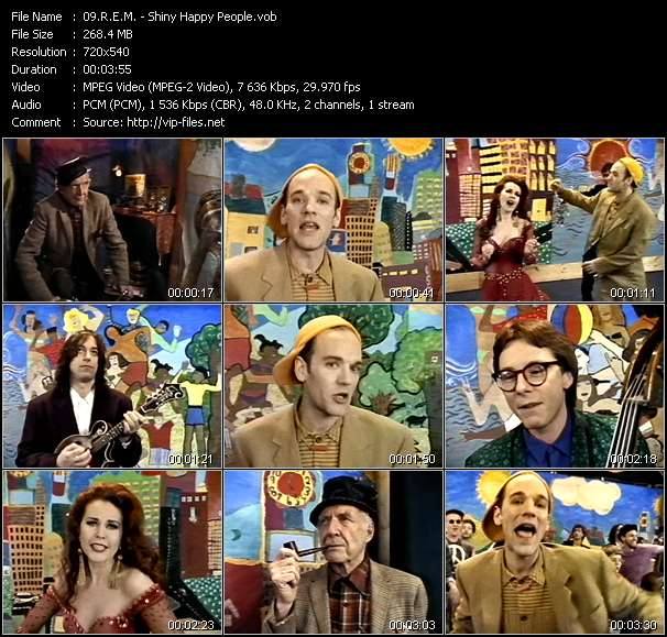 Screenshot of Music Video R.E.M. - Shiny Happy People