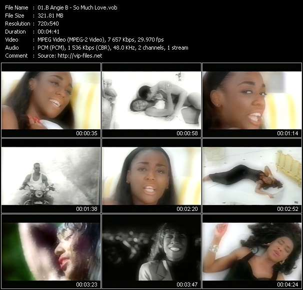 Screenshot of Music Video B Angie B - So Much Love