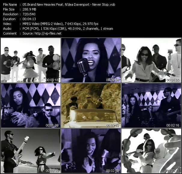 Screenshot of Music Video Brand New Heavies Feat. N'dea Davenport - Never Stop