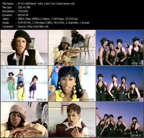 Screenshot of Music Video Ex-Girlfriend - Why Can't You Come Home