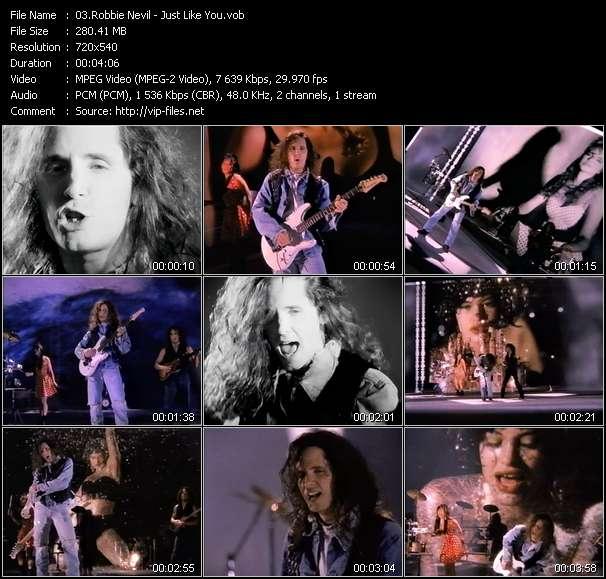 Screenshot of Music Video Robbie Nevil - Just Like You