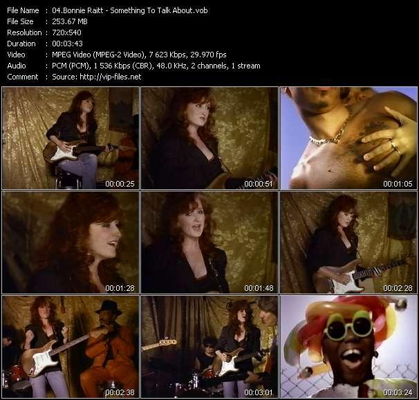 Screenshot of Music Video Bonnie Raitt - Something To Talk About