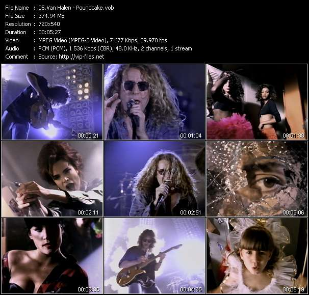 Screenshot of Music Video Van Halen - Poundcake