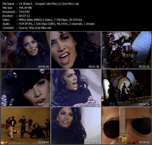 Screenshot of Music Video Sheila E. - Droppin' Like Flies (12 Inch Mix)