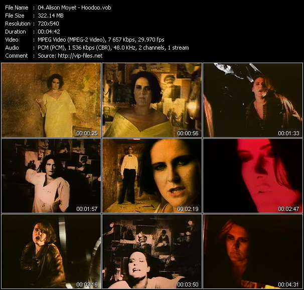 Screenshot of Music Video Alison Moyet - Hoodoo