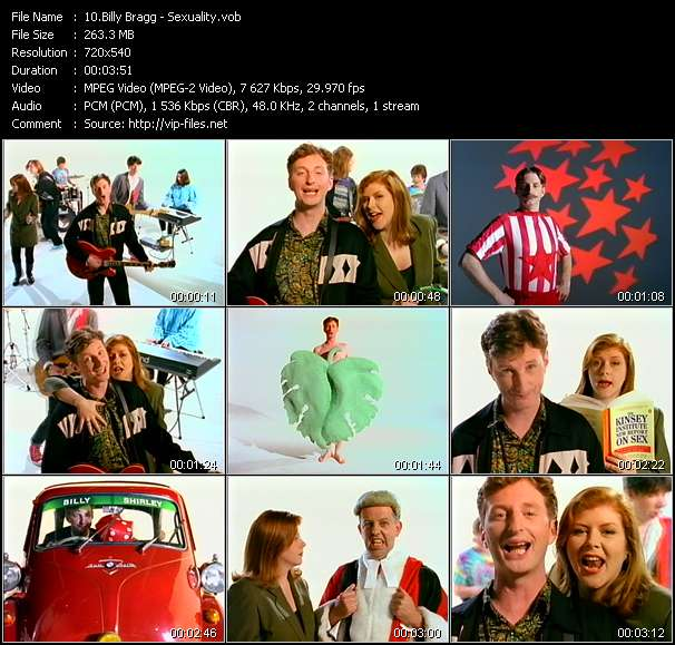 Screenshot of Music Video Billy Bragg - Sexuality