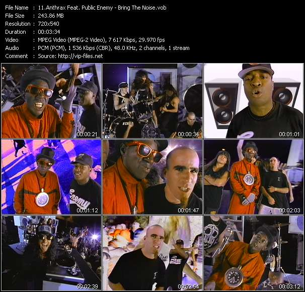 Screenshot of Music Video Anthrax Feat. Public Enemy - Bring The Noise