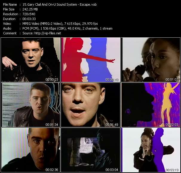 Screenshot of Music Video Gary Clail And On-U Sound System - Escape