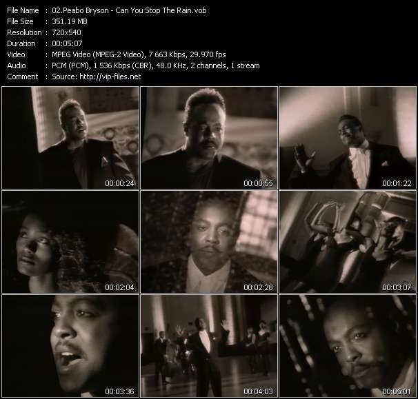 Screenshot of Music Video Peabo Bryson - Can You Stop The Rain