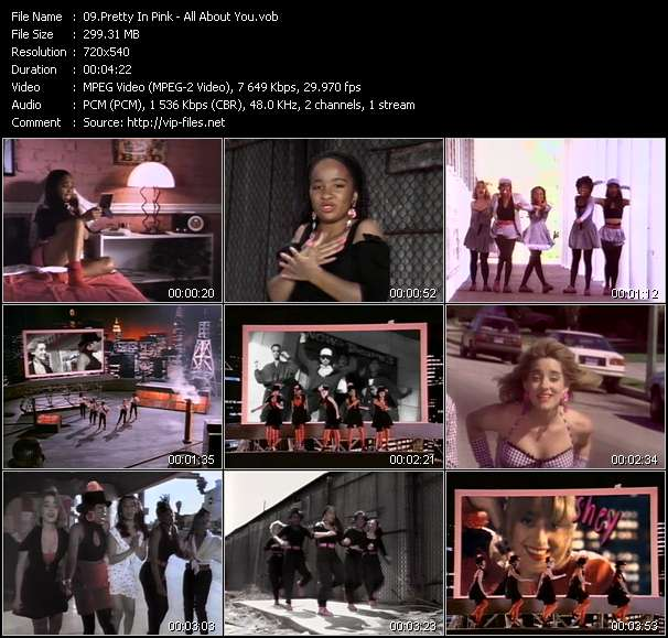 Screenshot of Music Video Pretty In Pink - All About You