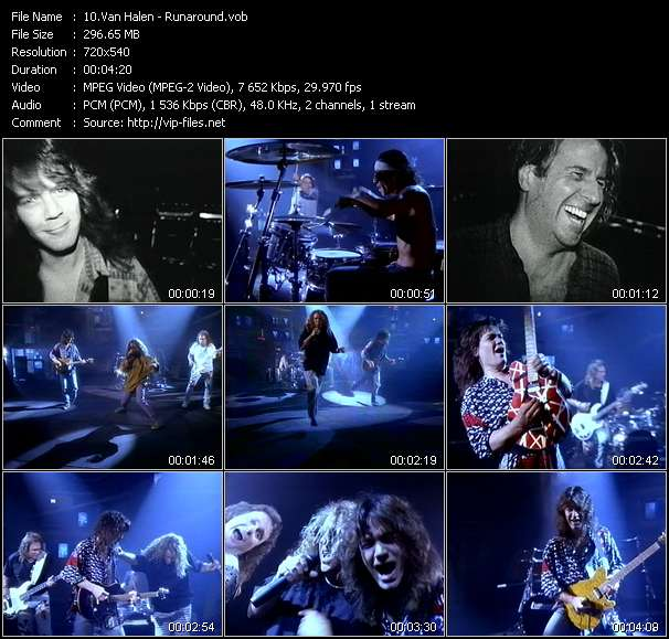 Van Halen clips musicaux vob