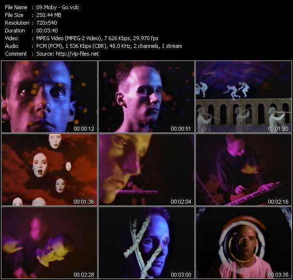 Moby clips musicaux vob