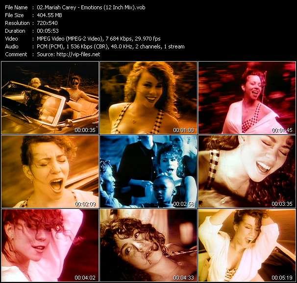 Mariah Carey clips musicaux vob