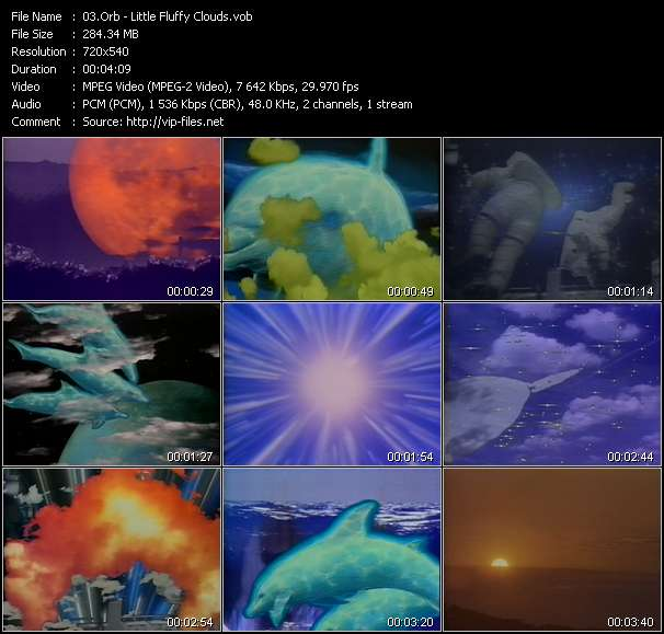 Screenshot of Music Video Orb - Little Fluffy Clouds