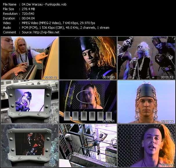 Screenshot of Music Video Die Warzau - Funkopolis