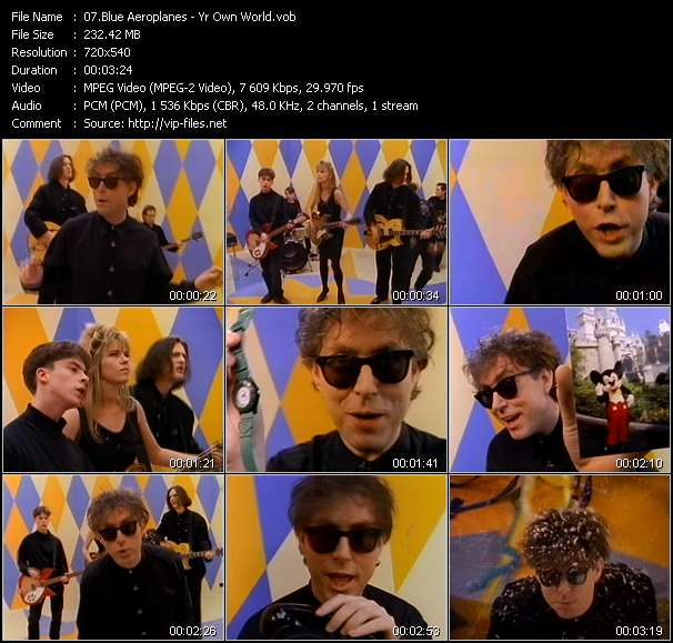 Screenshot of Music Video Blue Aeroplanes - Yr Own World