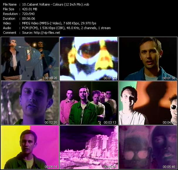 Screenshot of Music Video Cabaret Voltaire - Colours (12 Inch Mix)