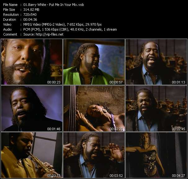 Barry White video vob