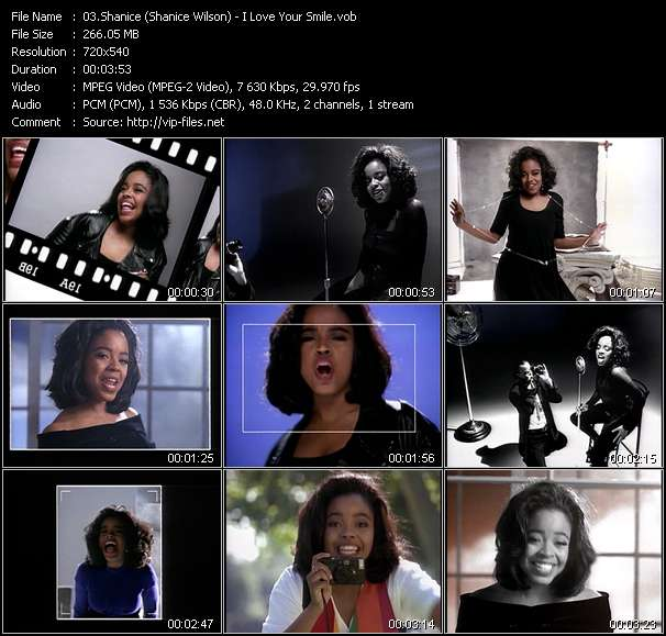 Screenshot of Music Video Shanice (Shanice Wilson) - I Love Your Smile
