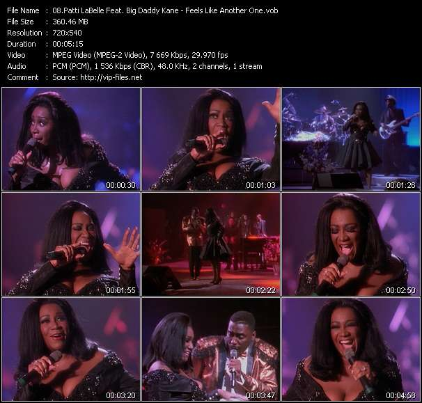 Screenshot of Music Video Patti LaBelle Feat. Big Daddy Kane - Feels Like Another One