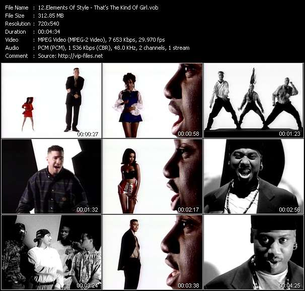 Screenshot of Music Video Elements Of Style - That's The Kind Of Girl