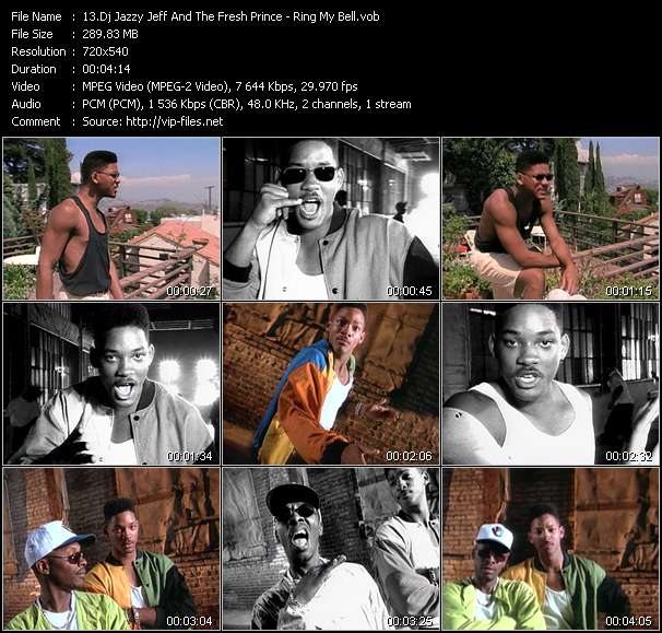 Screenshot of Music Video Dj Jazzy Jeff And The Fresh Prince - Ring My Bell