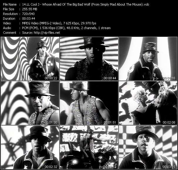 Screenshot of Music Video LL Cool J - Whose Afraid Of The Big Bad Wolf? (From Simply Mad About The Mouse)