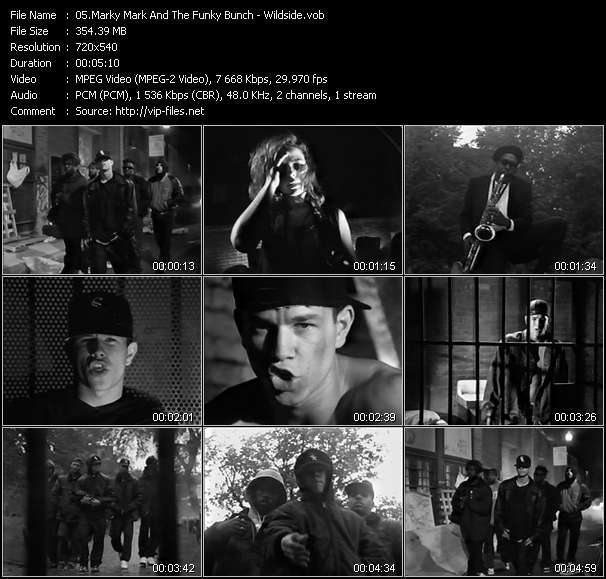 Screenshot of Music Video Marky Mark And The Funky Bunch - Wildside