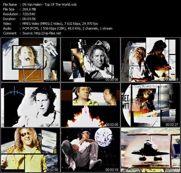 Screenshot of Music Video Van Halen - Top Of The World