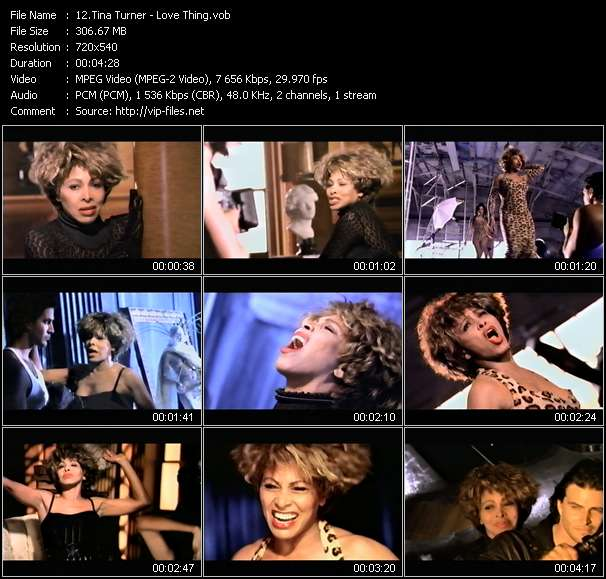 Screenshot of Music Video Tina Turner - Love Thing