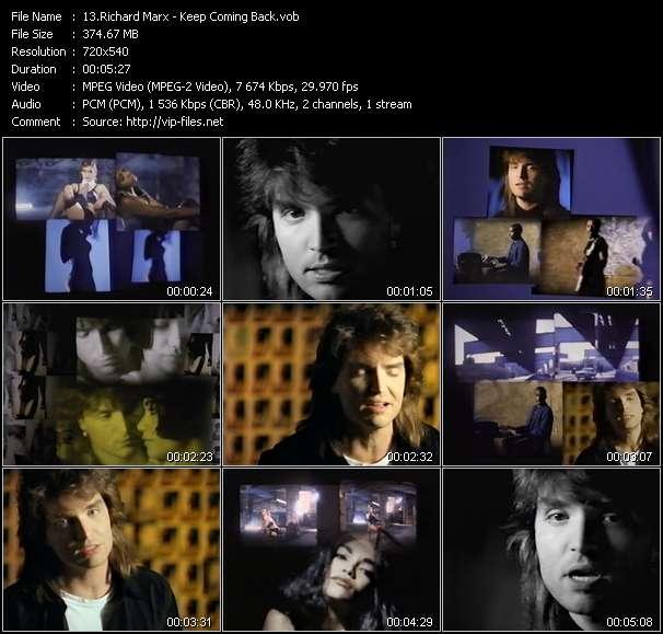 Screenshot of Music Video Richard Marx - Keep Coming Back