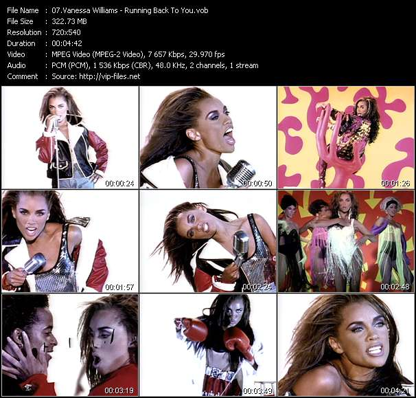 Screenshot of Music Video Vanessa Williams - Running Back To You