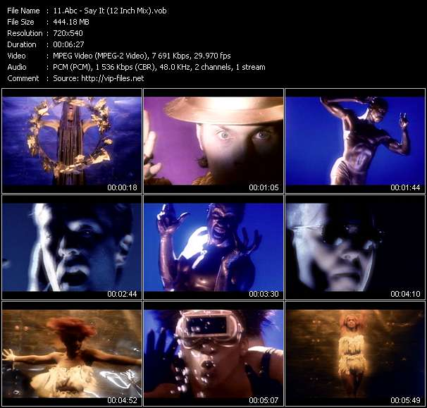 Screenshot of Music Video Abc - Say It (12 Inch Mix)