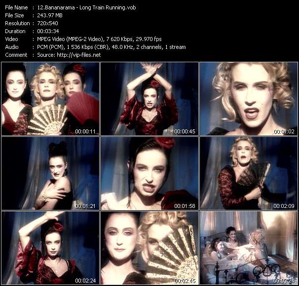 Screenshot of Music Video Bananarama - Long Train Running