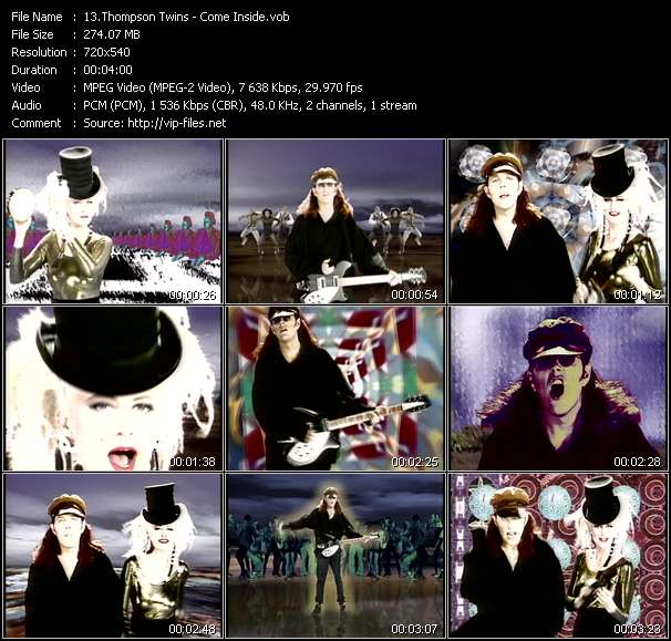Screenshot of Music Video Thompson Twins - Come Inside