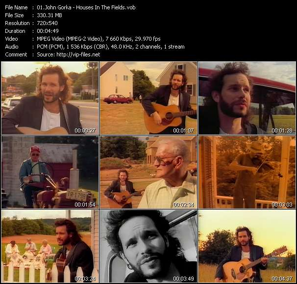 Screenshot of Music Video John Gorka - Houses In The Fields