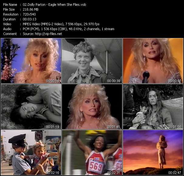 Screenshot of Music Video Dolly Parton - Eagle When She Flies
