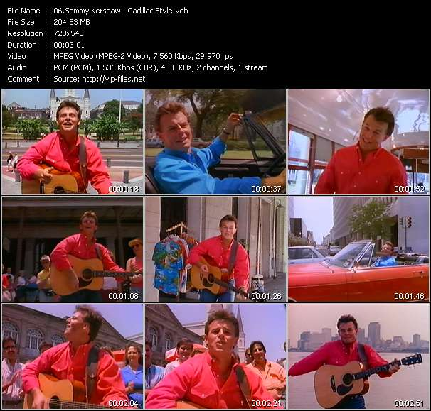Screenshot of Music Video Sammy Kershaw - Cadillac Style