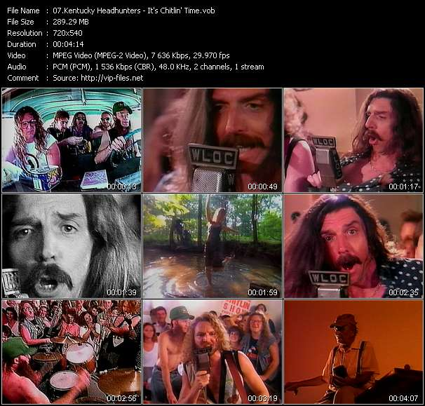 Screenshot of Music Video Kentucky Headhunters - It's Chitlin' Time