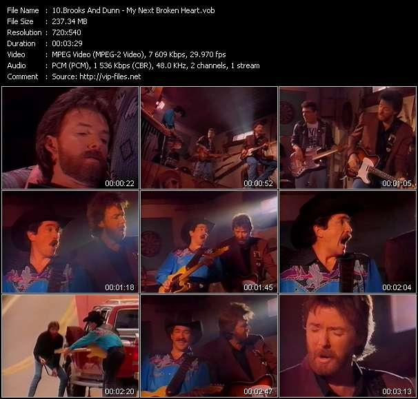 Screenshot of Music Video Brooks And Dunn - My Next Broken Heart