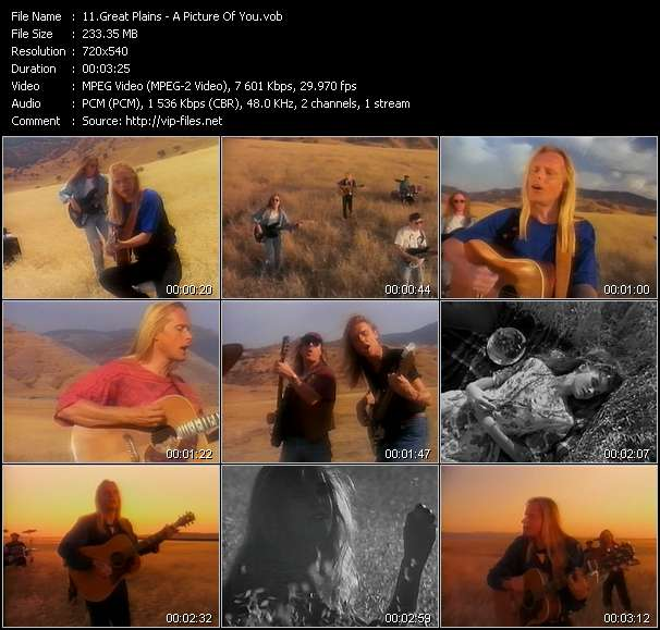Screenshot of Music Video Great Plains - A Picture Of You