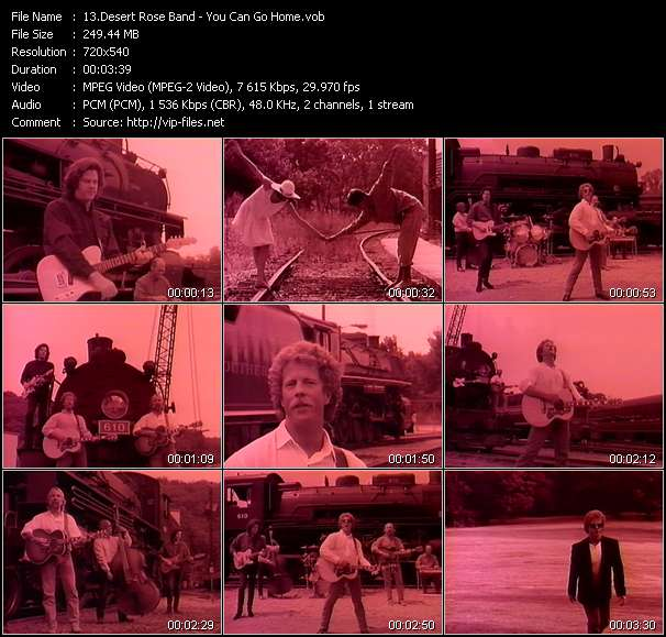 Screenshot of Music Video Desert Rose Band - You Can Go Home