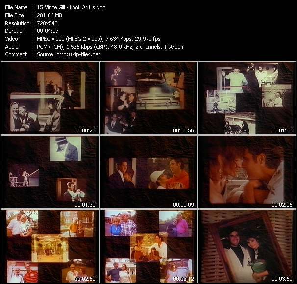 Screenshot of Music Video Vince Gill - Look At Us