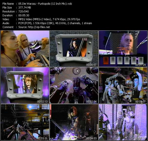 Screenshot of Music Video Die Warzau - Funkopolis (12 Inch Mix)