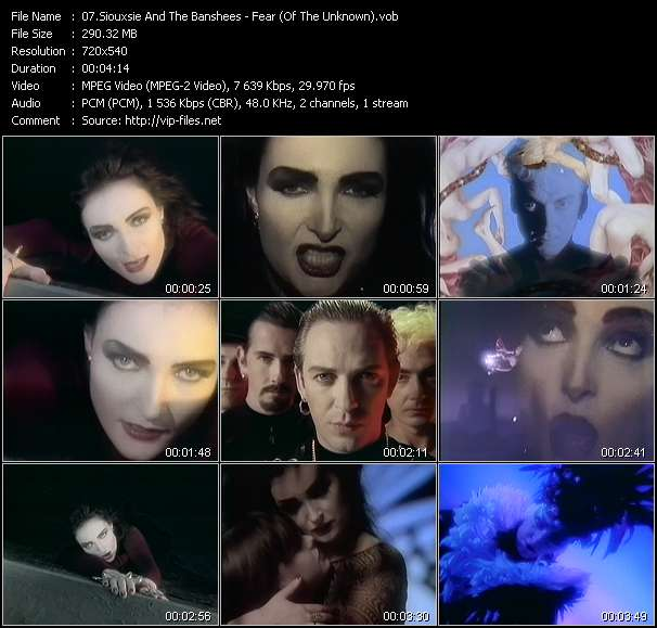 Screenshot of Music Video Siouxsie And The Banshees - Fear (Of The Unknown)